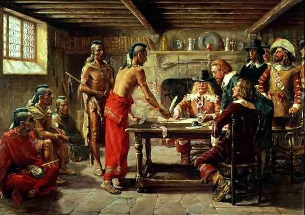 Signing_the_Treaty_with_the_Indians