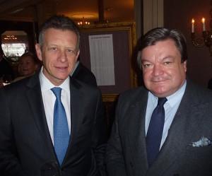 Benoit Clivio, responsabile della Banca Rothschild per i clienti svizzeri, con Gustave Bonde