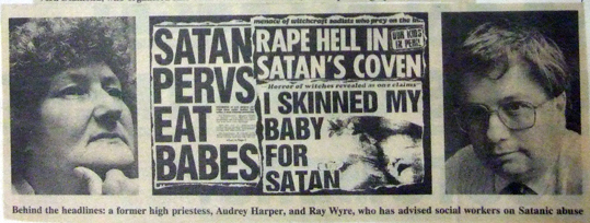 satanic ritual abuse newspapers landscape